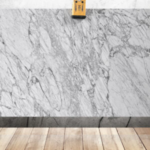слэб мрамора белого цвета Bianco Carrara Venatino