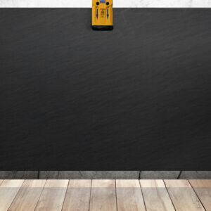 слэб кварцита серого цвета carbon grey